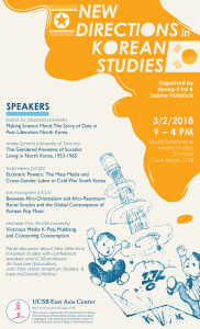 New Directions in Korean Studies @ Social Sciences & Media Studies Building #2135 | Santa Barbara | California | United States