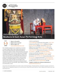 Realisms in East Asian Performing Arts @ Zoom Webinar